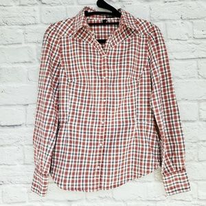 Stiles Benetton Red Plaid Snap Front Western Shirt
